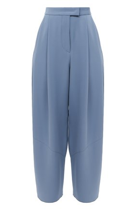 Женские шелковые брюки GIORGIO ARMANI синего цвета, арт. 1SHPP0G4/T0010 | Фото 1