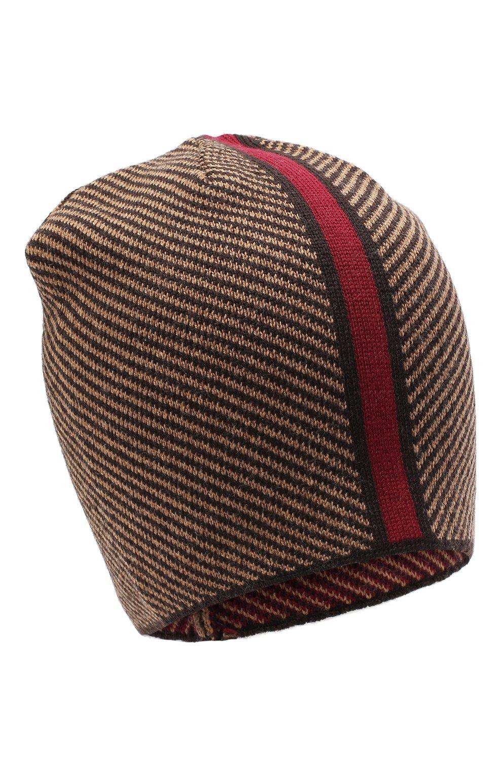 Мужская шерстяная шапка niko CANOE коричневого цвета, арт. 3441999   Фото 1