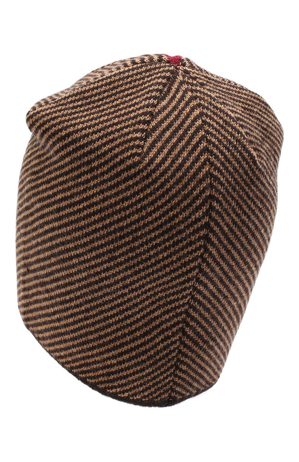 Мужская шерстяная шапка niko CANOE коричневого цвета, арт. 3441999   Фото 2