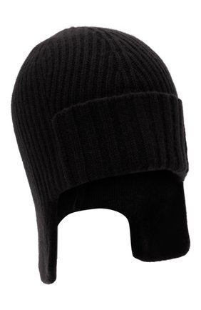 Мужская кашемировая шапка-ушанка maurice CANOE черного цвета, арт. 4004710 | Фото 1 (Материал: Шерсть, Кашемир; Кросс-КТ: Трикотаж)