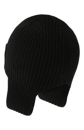 Мужская кашемировая шапка-ушанка maurice CANOE черного цвета, арт. 4004710 | Фото 2 (Материал: Шерсть, Кашемир; Кросс-КТ: Трикотаж)