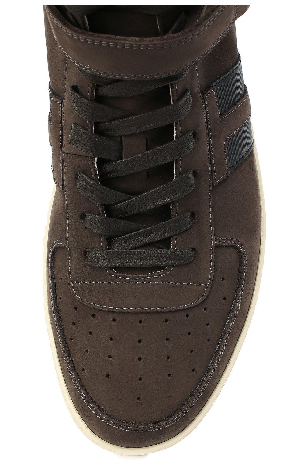 Мужские замшевые кеды TOM FORD темно-коричневого цвета, арт. J1227T-LCL133   Фото 5