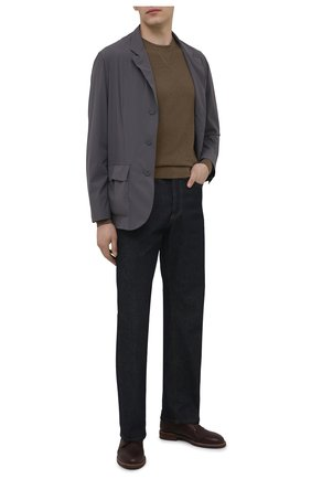 Мужские кожаные дерби BRUNELLO CUCINELLI коричневого цвета, арт. MZUCSLK938 | Фото 2