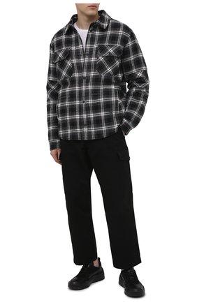 Мужские кожаные кроссовки gumboy valentino garavani VALENTINO черного цвета, арт. VY2S0B17/AAI | Фото 2