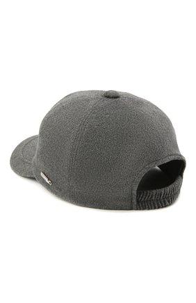 Мужской бейсболка из шелка и шерсти ZILLI серого цвета, арт. MHU-CAP04-30345/0001 | Фото 2