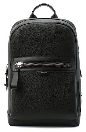 Мужской кожаный рюкзак TOM FORD черного цвета, арт. H0437P-LCL037 | Фото 1