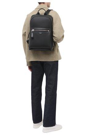 Мужской кожаный рюкзак TOM FORD черного цвета, арт. H0437P-LCL037 | Фото 2