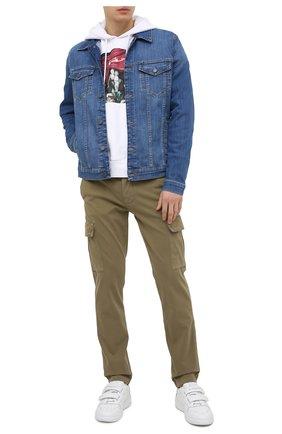 Мужские хлопковые брюки-карго 7 FOR ALL MANKIND хаки цвета, арт. JSUCT490LA | Фото 2