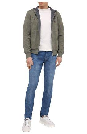Мужские джинсы 7 FOR ALL MANKIND синего цвета, арт. JSD4B480LI | Фото 2