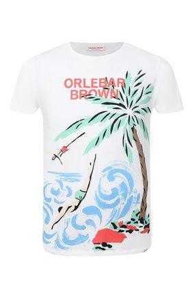 Мужская хлопковая футболка ORLEBAR BROWN белого цвета, арт. 273282 | Фото 1