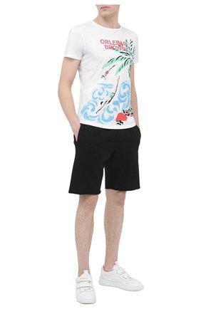 Мужская хлопковая футболка ORLEBAR BROWN белого цвета, арт. 273282 | Фото 2