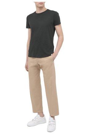 Мужская хлопковая футболка ORLEBAR BROWN хаки цвета, арт. 272779 | Фото 2