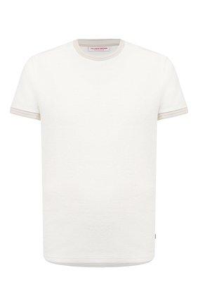Мужская хлопковая футболка ORLEBAR BROWN белого цвета, арт. 272186 | Фото 1