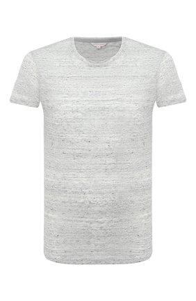 Мужская льняная футболка ORLEBAR BROWN серого цвета, арт. 271842 | Фото 1