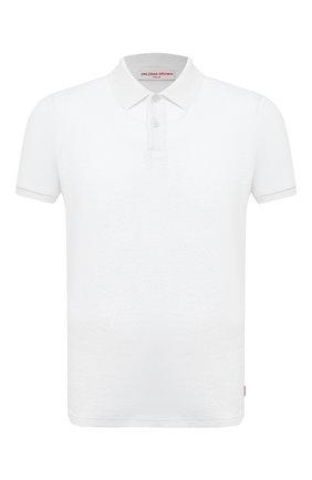 Мужское хлопковое поло ORLEBAR BROWN белого цвета, арт. 271649 | Фото 1