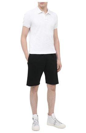 Мужское хлопковое поло ORLEBAR BROWN белого цвета, арт. 271649 | Фото 2