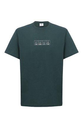 Мужская хлопковая футболка VETEMENTS зеленого цвета, арт. UE51TR230G 1611/M   Фото 1