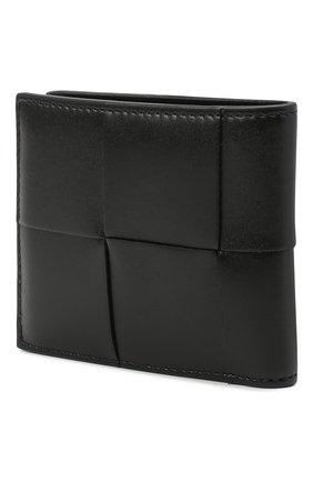Мужской кожаное портмоне BOTTEGA VENETA черного цвета, арт. 649603/VBWD2 | Фото 2
