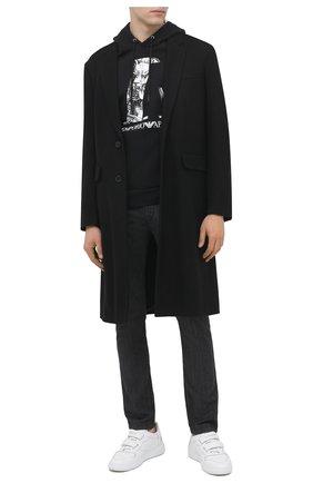 Мужские джинсы EMPORIO ARMANI серого цвета, арт. 3K1J06/1D5PZ | Фото 2
