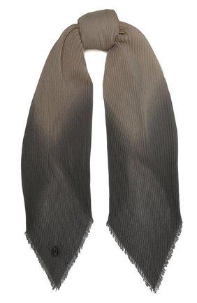 Мужской шерстяной шарф GIORGIO ARMANI разноцветного цвета, арт. 745310/1P110 | Фото 1 (Кросс-КТ: шерсть; Материал: Шерсть)