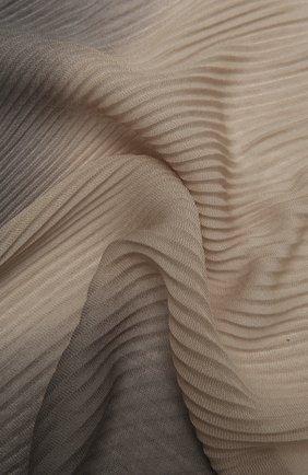 Мужской шерстяной шарф GIORGIO ARMANI разноцветного цвета, арт. 745310/1P110 | Фото 2 (Кросс-КТ: шерсть; Материал: Шерсть)