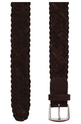 Мужской замшевый ремень LORO PIANA темно-коричневого цвета, арт. FAL6258 | Фото 2