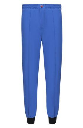 Мужские джоггеры KITON синего цвета, арт. UW0945V07T91 | Фото 1
