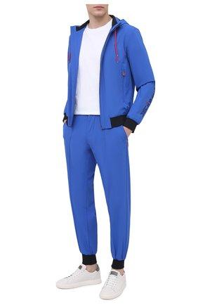 Мужские джоггеры KITON синего цвета, арт. UW0945V07T91 | Фото 2
