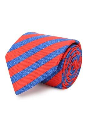 Мужской шелковый галстук KITON красного цвета, арт. UCRVKLC06G67 | Фото 1 (Принт: С принтом; Материал: Текстиль)