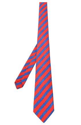 Мужской шелковый галстук KITON красного цвета, арт. UCRVKLC06G67 | Фото 2 (Принт: С принтом; Материал: Текстиль)
