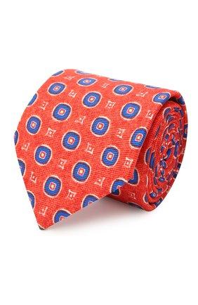 Мужской шелковый галстук KITON красного цвета, арт. UCRVKLC06G66 | Фото 1 (Материал: Текстиль; Принт: С принтом)