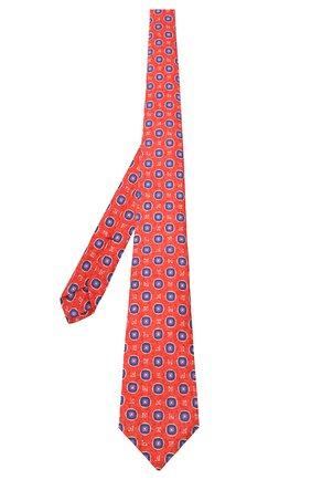 Мужской шелковый галстук KITON красного цвета, арт. UCRVKLC06G66 | Фото 2 (Материал: Текстиль; Принт: С принтом)
