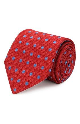 Мужской шелковый галстук KITON красного цвета, арт. UCRVKLC06G44 | Фото 1 (Материал: Шелк, Текстиль; Принт: С принтом)
