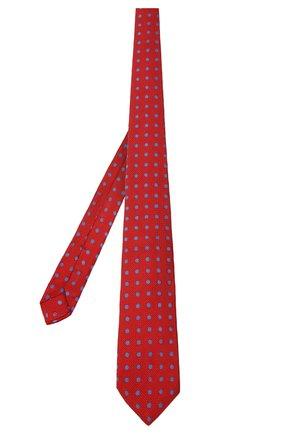 Мужской шелковый галстук KITON красного цвета, арт. UCRVKLC06G44 | Фото 2 (Материал: Шелк, Текстиль; Принт: С принтом)