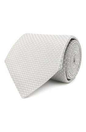 Мужской шелковый галстук KITON светло-серого цвета, арт. UCRVKLC06G29   Фото 1
