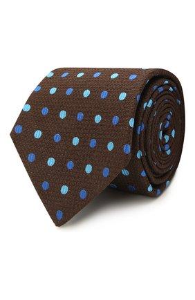 Мужской шелковый галстук KITON коричневого цвета, арт. UCRVKLC06G23 | Фото 1 (Материал: Текстиль, Шелк; Принт: С принтом)