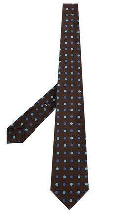 Мужской шелковый галстук KITON коричневого цвета, арт. UCRVKLC06G23 | Фото 2 (Материал: Текстиль, Шелк; Принт: С принтом)