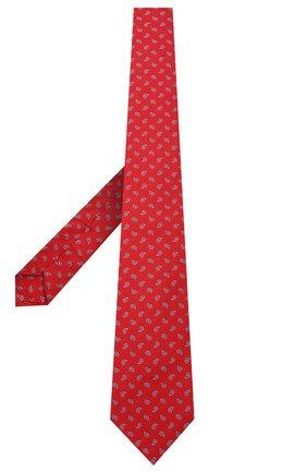 Мужской галстук из шелка и хлопка KITON красного цвета, арт. UCRVKLC06G03 | Фото 2 (Материал: Хлопок, Текстиль, Шелк; Принт: С принтом)