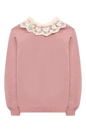 Детский пуловер ZHANNA & ANNA розового цвета, арт. ZAP21102020 | Фото 1