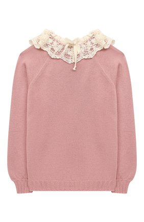 Детский пуловер ZHANNA & ANNA розового цвета, арт. ZAP21102020 | Фото 2