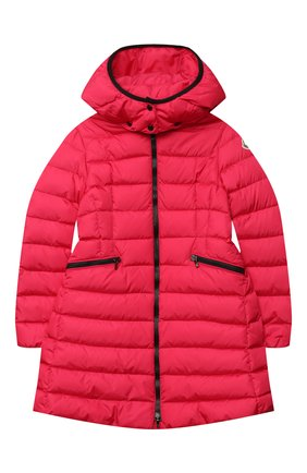 Детское пуховое пальто MONCLER фуксия цвета, арт. F2-954-1C502-10-54155/8-10A | Фото 1