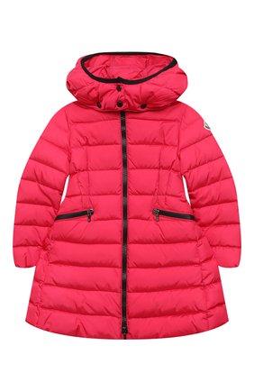 Детское пуховое пальто MONCLER фуксия цвета, арт. F2-954-1C502-10-54155/4-6A | Фото 1