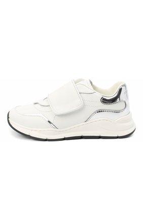Детские кожаные кроссовки DOLCE & GABBANA белого цвета, арт. DA0911/AK186/24-28   Фото 2