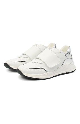 Детские кожаные кроссовки DOLCE & GABBANA белого цвета, арт. DA0911/AK186/37-39   Фото 1