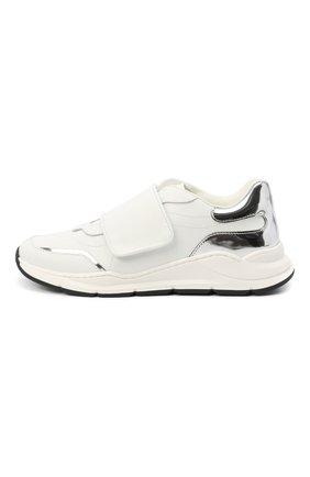 Детские кожаные кроссовки DOLCE & GABBANA белого цвета, арт. DA0911/AK186/37-39   Фото 2