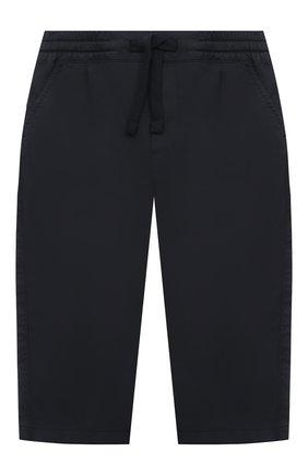 Детские хлопковые брюки DOLCE & GABBANA темно-синего цвета, арт. L13P60/LY048 | Фото 1