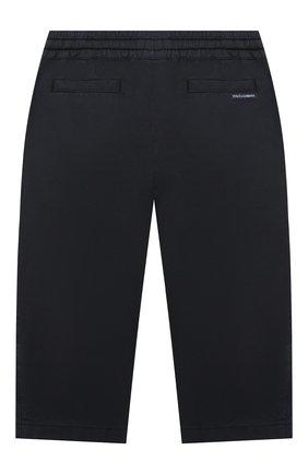 Детские хлопковые брюки DOLCE & GABBANA темно-синего цвета, арт. L13P60/LY048 | Фото 2