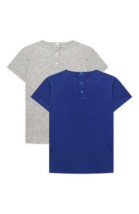 Детский комплект из двух футболок EMPORIO ARMANI синего цвета, арт. 3KHD01/4J09Z | Фото 2