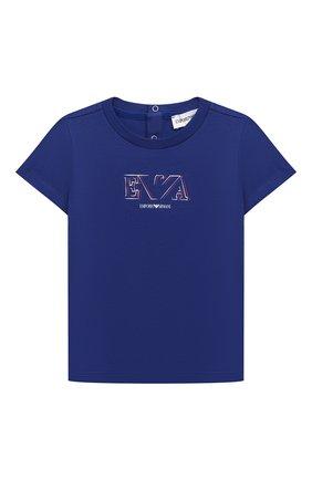 Детский комплект из двух футболок EMPORIO ARMANI синего цвета, арт. 3KHD01/4J09Z | Фото 3