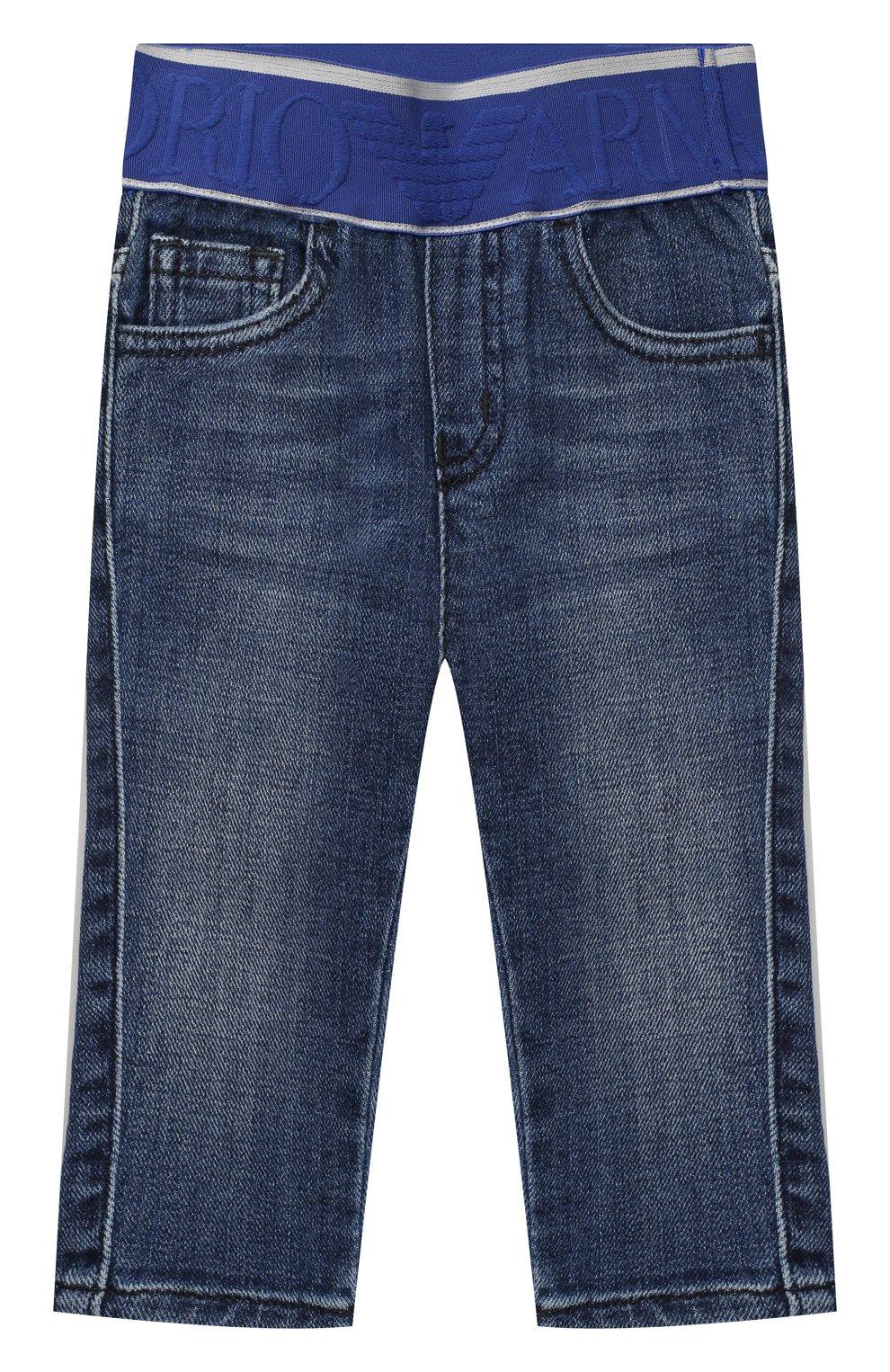 Детские джинсы EMPORIO ARMANI синего цвета, арт. 3KHJ07/4D2JZ   Фото 1